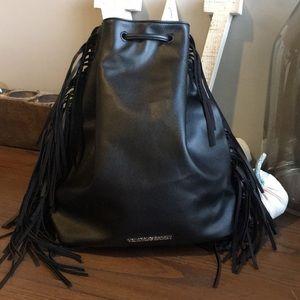 Victoria's Secret Fringe Drawstring Backpack NWT